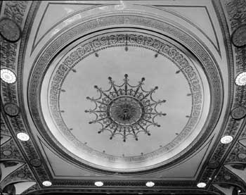 Ceiling photo from the 1990 Historic American Buildings Survey (HABS) held by the Library of Congress (JPG)