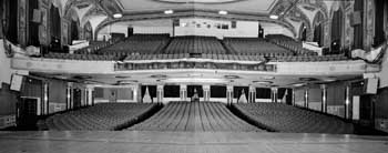 Auditorium from Stage – panoramic stitch of two photos from the 1990 Historic American Buildings Survey (HABS), courtesy Library of Congress (JPG)