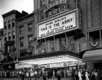 Theatre exterior as the <i>Earle Theatre</i>
